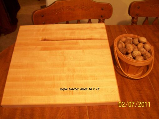 Custom Made Maple Butcher Block