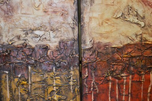 "Custom Made (4) 24x12 Original Modern Textured Contemporary Abstract Painting ""Four Wonders Of The World"""
