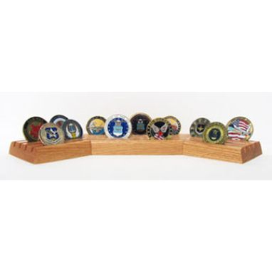 Custom Made Coin Display Military, Desk Coin Holder, Rack