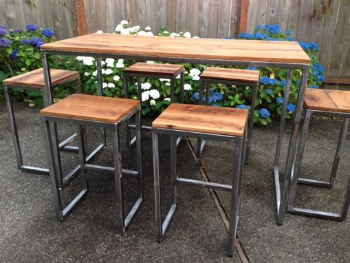 Custom Made Indoor/Outdoor Pub Table And Stools
