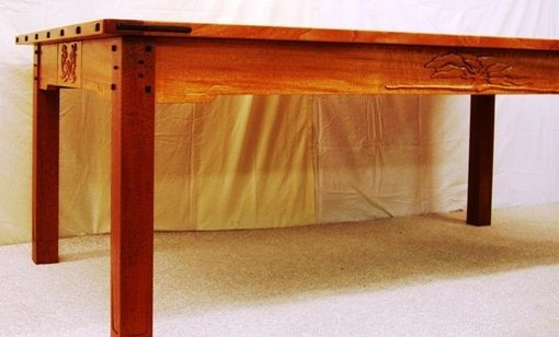 Custom Made Arts And Crafts | Greene And Greene Carved Dining Table