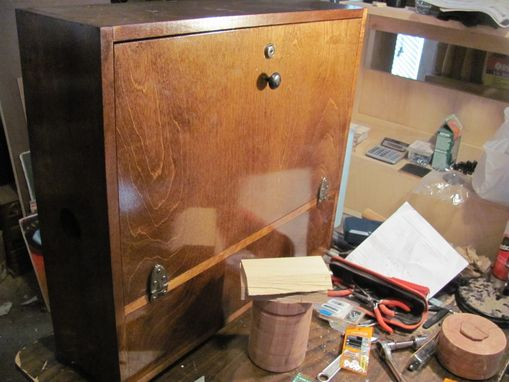 Custom Made Wall Mounted Laptop Cabinet