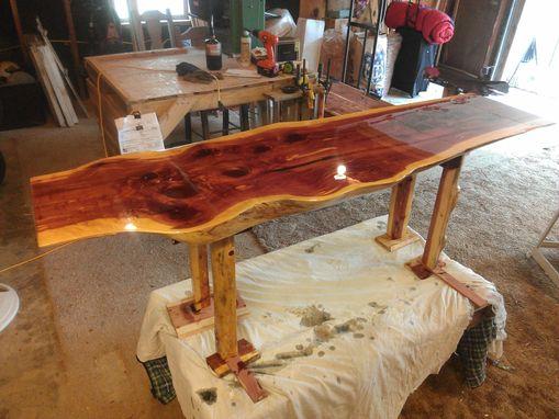 Custom Made Red Cedar Coffee Or Sofa Table By Cedar