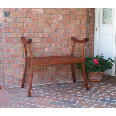 Custom Made Mahogany Asian Porch Bench
