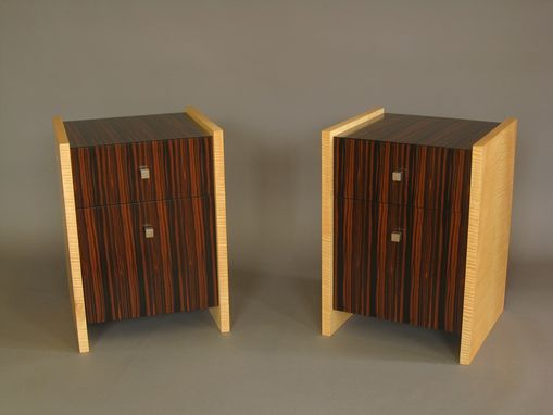Custom Made Ebony Bedside Tables