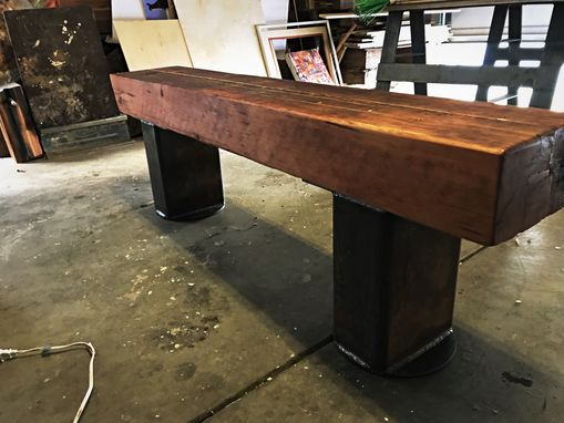 Custom Made Industrial Salvaged Pier Bench