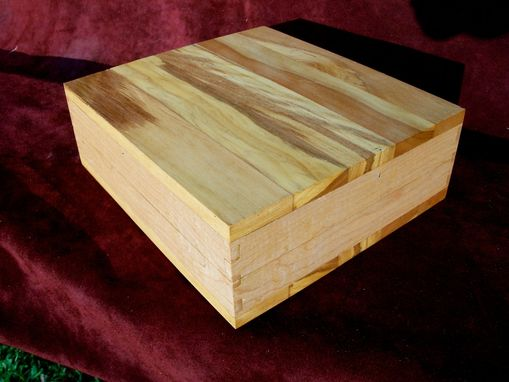 "Custom Made Solid Cherry Box With Friction Hinge ""Wild Horses"""