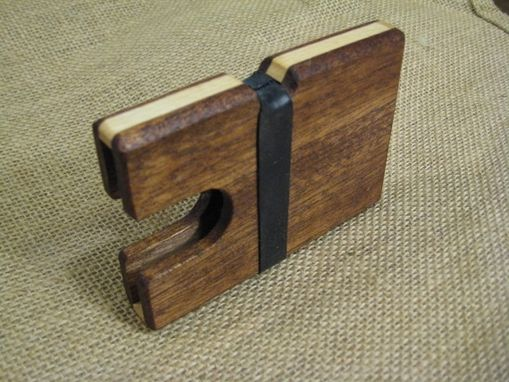 Custom Made Mahogany And Maple Wooden Wallet