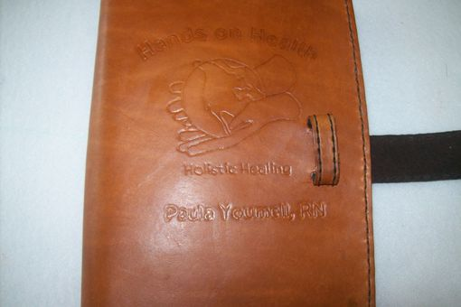 Custom Made Leather Book Cover For Two Books