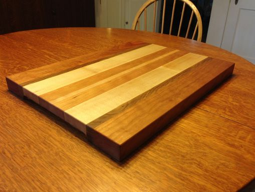 Custom Made Striped Cutting Board