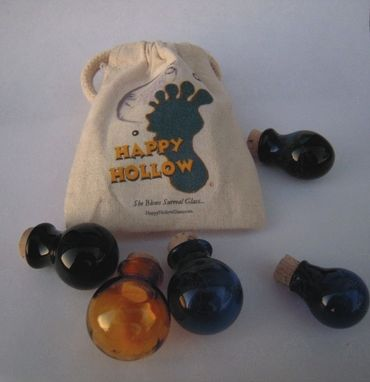 Custom Made X3 Floating Bubble Bottles In (1) Cotton Muslin Gift Pouch