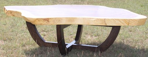 Custom Made Round Live Edge Coffee Table