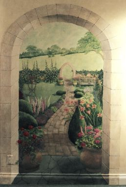 Custom Made English Garden Mural