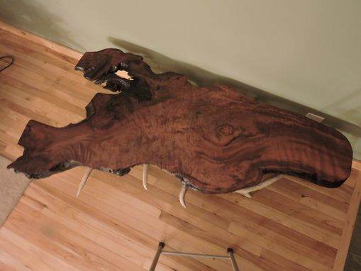 Custom Made Live Edge Old Growth Burled Redwood Coffee Tables