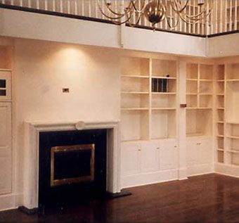 Custom Made Two Floor Library With Bookcases