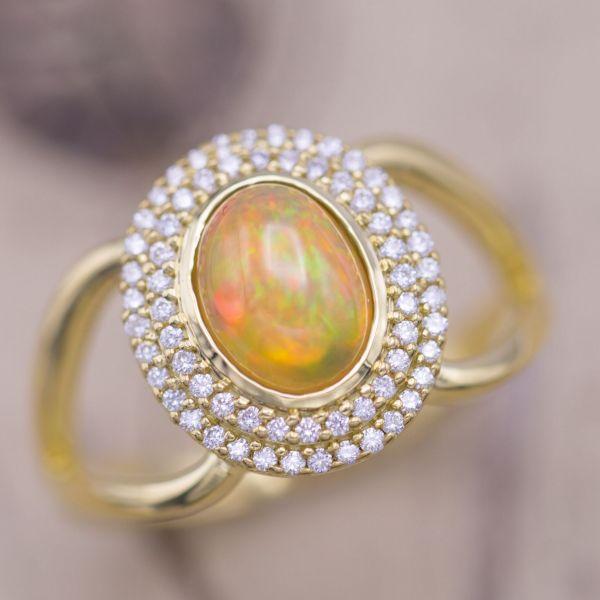 Opal Engagement Rings Custommade Com