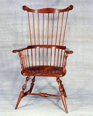 Custom Made Maine Windsor Comb-Back Arm Chair