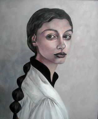 Custom Made Eliza-Acrylic On Canvas Portrait, Framed