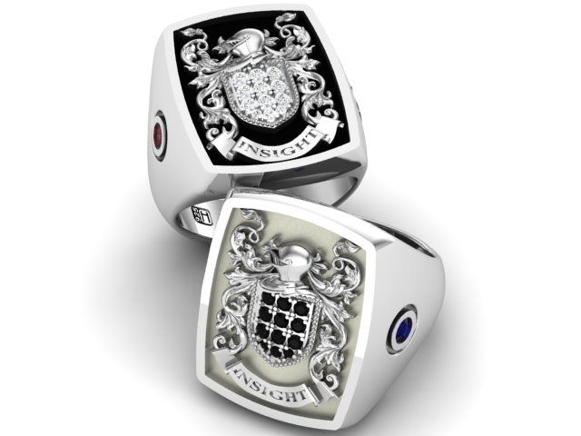 Coat Of Arms Signet Ring Uk