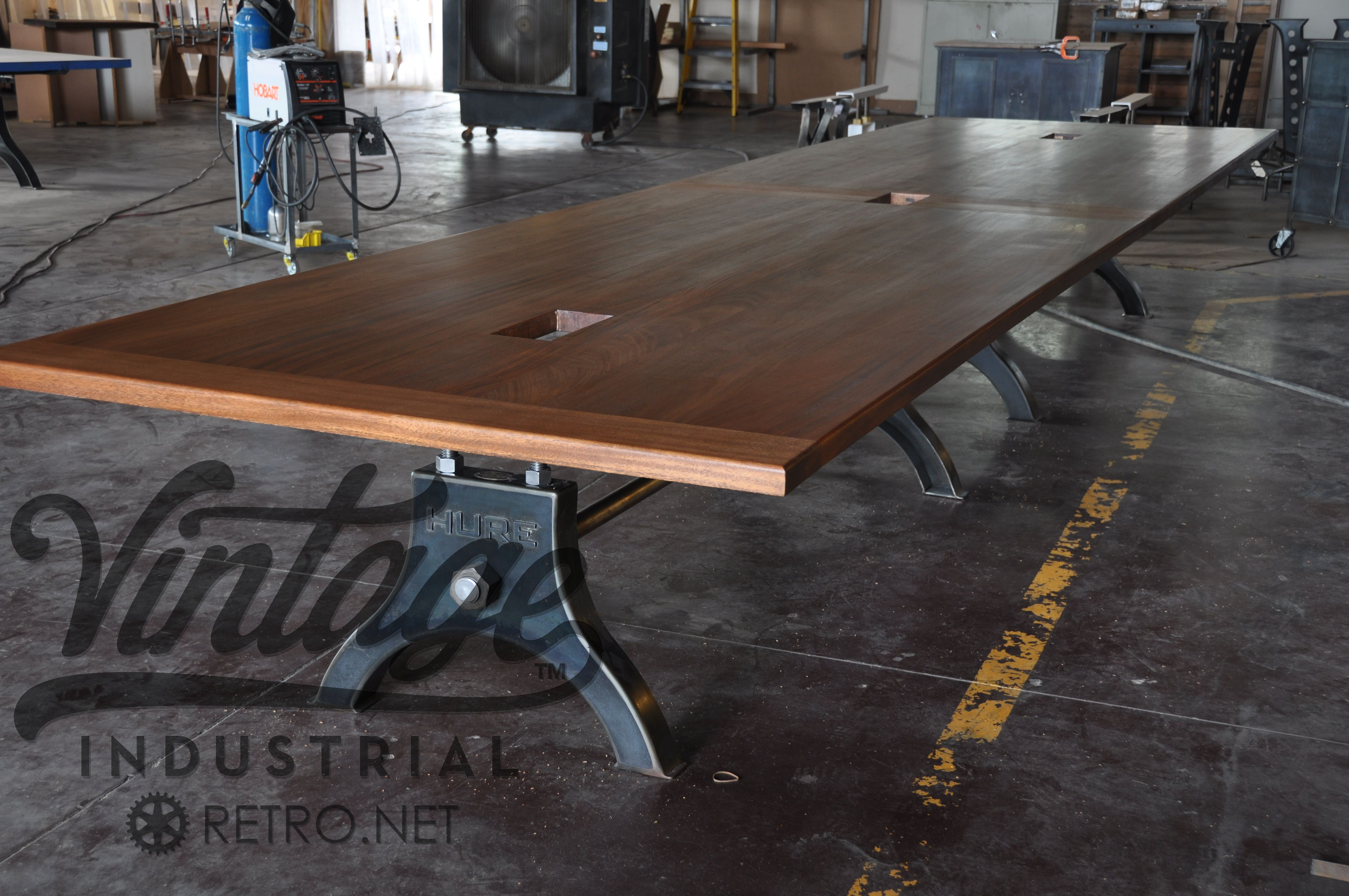 Post industrial conference table vintage industrial furniture - Vintage Industrial Hure Conference Table
