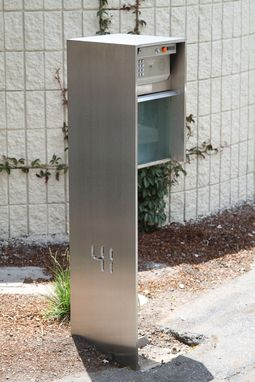 Custom Made Contemporary Minimalist Modern Stainless Steel Mailbox/Call Box