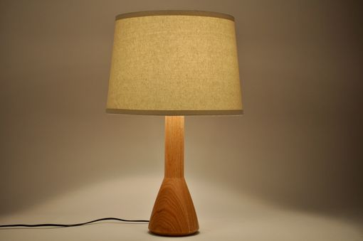 Custom Made Modern Oak Lamp