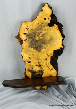 Custom Made Golden Buckeye Burl Shelves