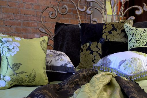 Custom Made Custom Made Cushions From European Fabrics In Varying Shapes With Feather Inserts