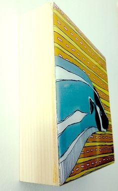 Custom Made Custom Wood Panel Painting #2