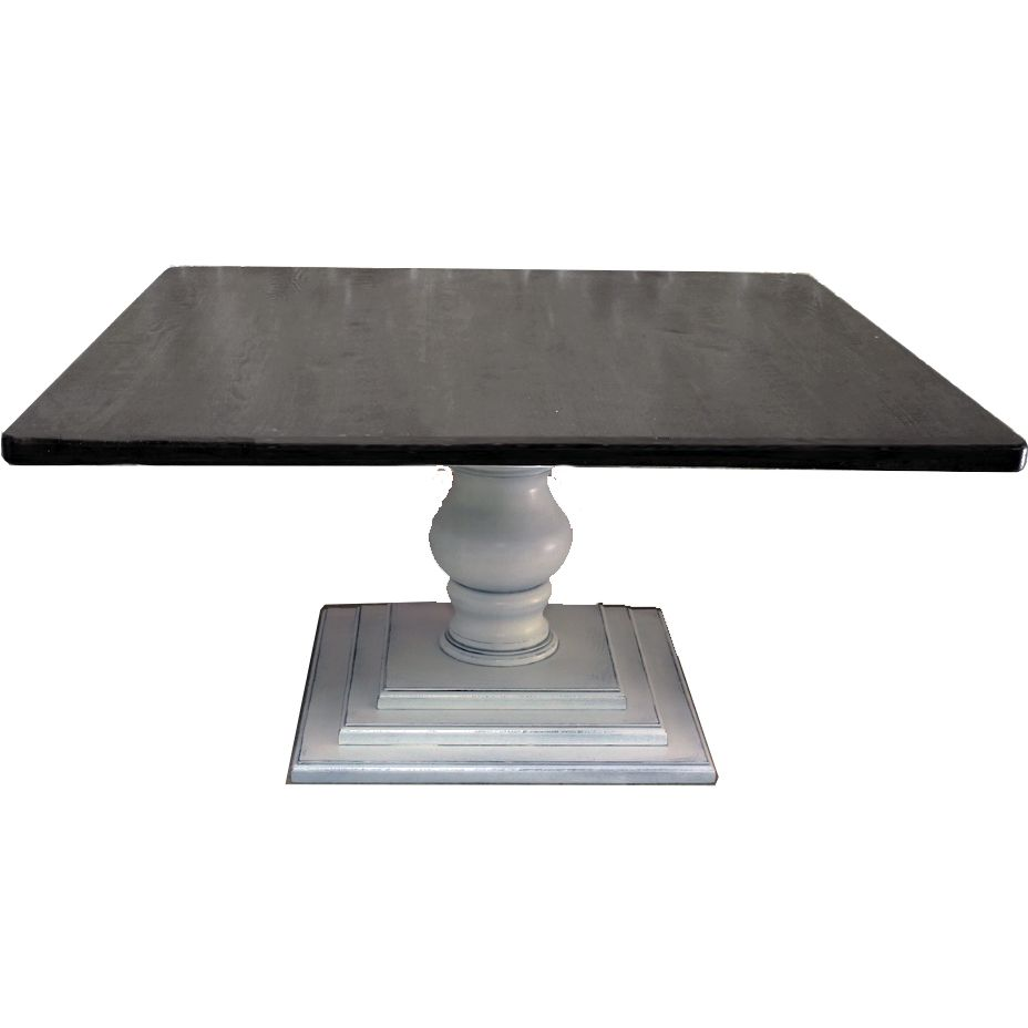 Farm Dining Table With Pedestal Base