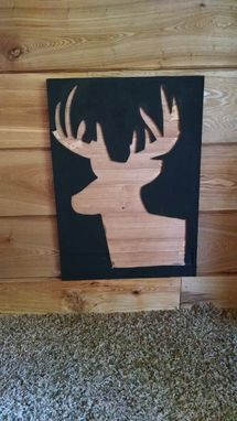 Custom Made Whitetail Buck Wood Wall Art