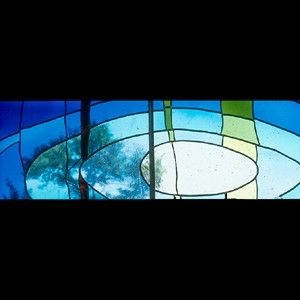 "Custom Made ""Waters Of Baptism"" Church Narthex Window"