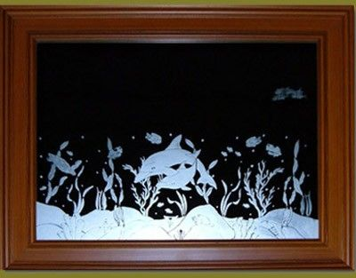 Custom Made Mirror Etchings