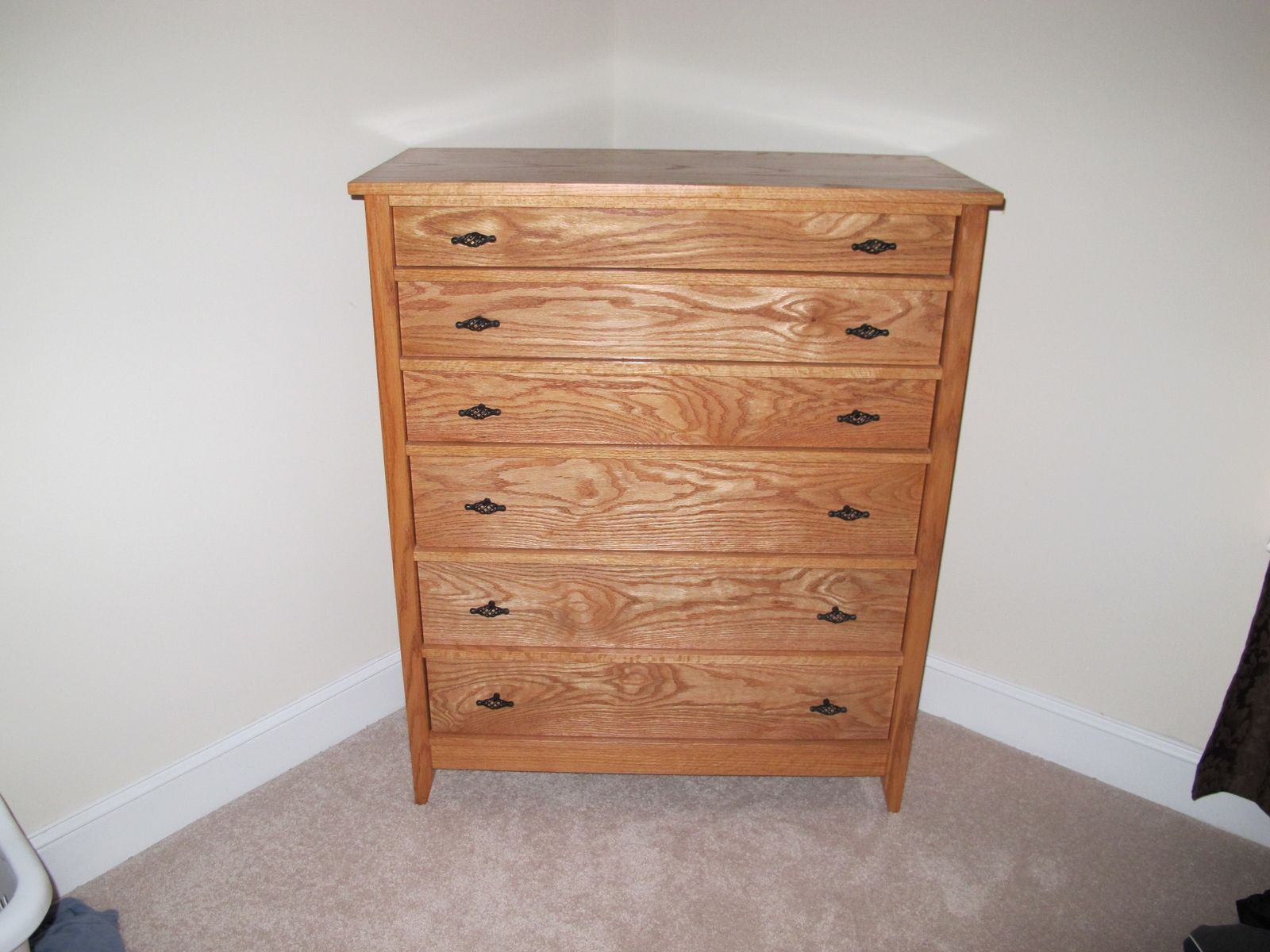 Wood Table Dresser ~ Hand made solid wood chest of drawers by carolina