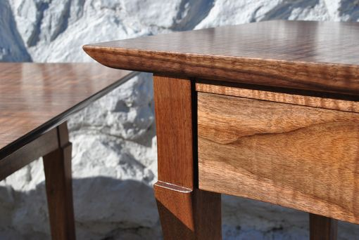 Custom Made Curly Walnut Coffee Table And Side Tables
