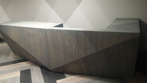 Custom Made Custom Modern Reception Desk
