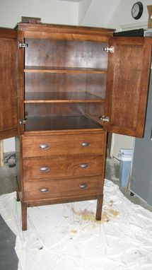 Custom Made Armoire, A Beautiful Piece For Storage In Any Room