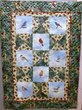 Custom Made Bird Throw Quilt