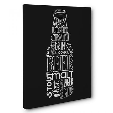 Custom Made Beer Bottle Kitchen Canvas Wall Art