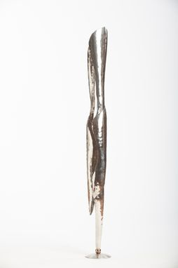 Custom Made Serenity Of Two - Contemporary Stainless Steel Sculpture