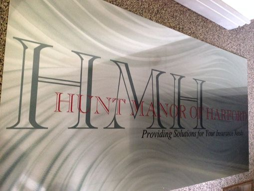 Custom Made Printed Metal Logo Sign - High Resolution Hd Graphics