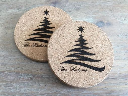 Custom Made Personalized Thick Cork Coasters 6 Styles – Set Of 4!