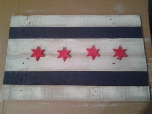 Custom Made Pallet Wood Chicago Flag