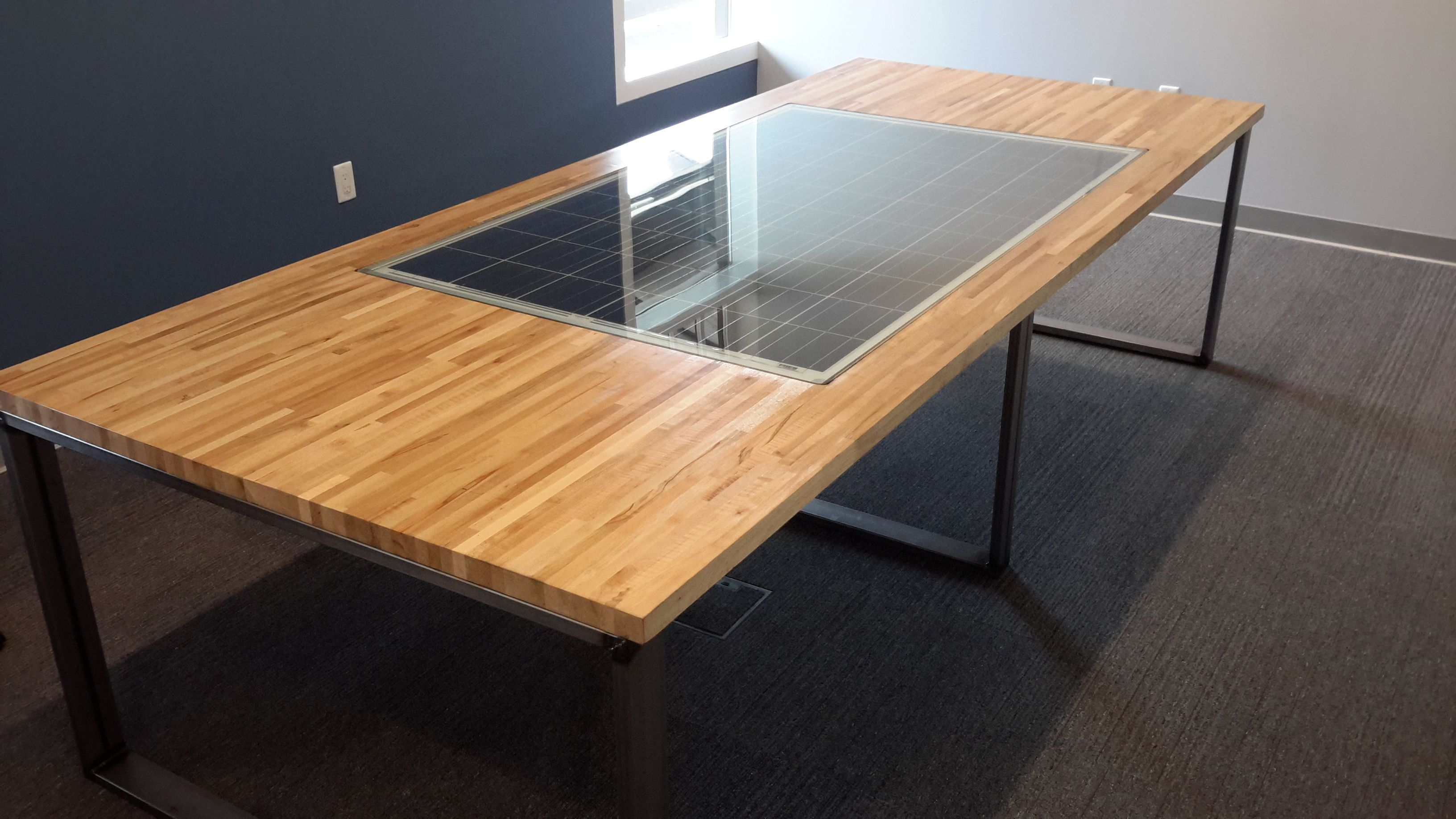 Hand Crafted Custom Maple Butcher Block Conference Table