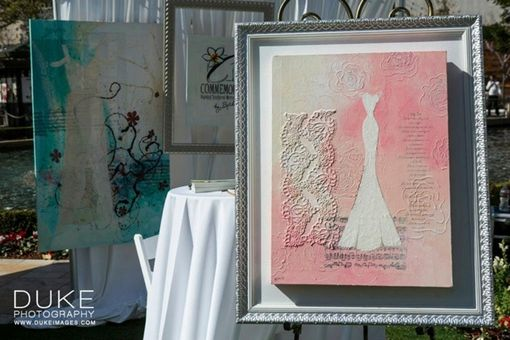 "Custom Made 'Courtney & Mario Lopez Wed' - 24""X18"" Mixed-Media On Canvas Painting"