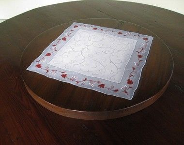 Custom Made Barn Wood Lazy Susan With Custom Hand Painting