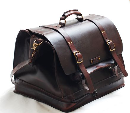 Custom Made Leather Weekender Carry-All