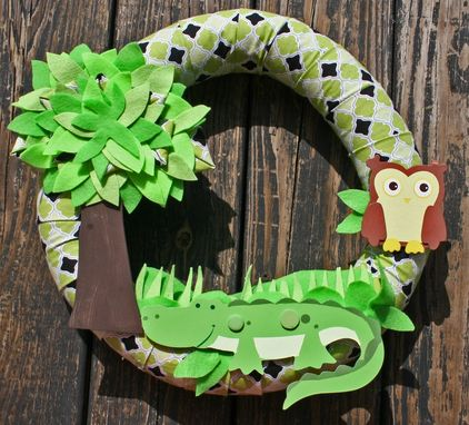 Custom Made Alligator Kid's Wreath