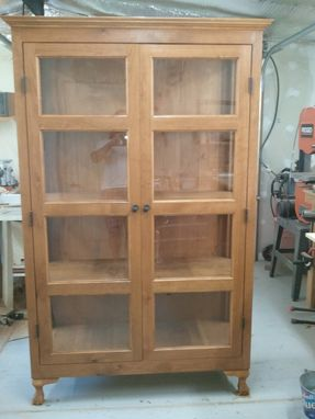 Custom Made Large Alder Wood Hutch