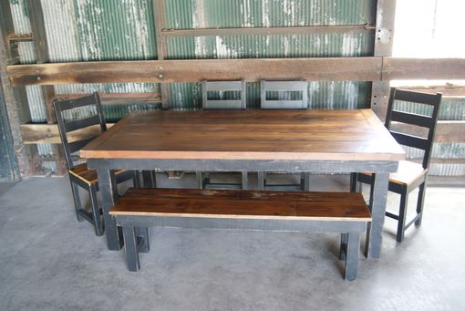 Custom Made Reclaimed Table Set.  Chairs, Benches, Bar Stools.